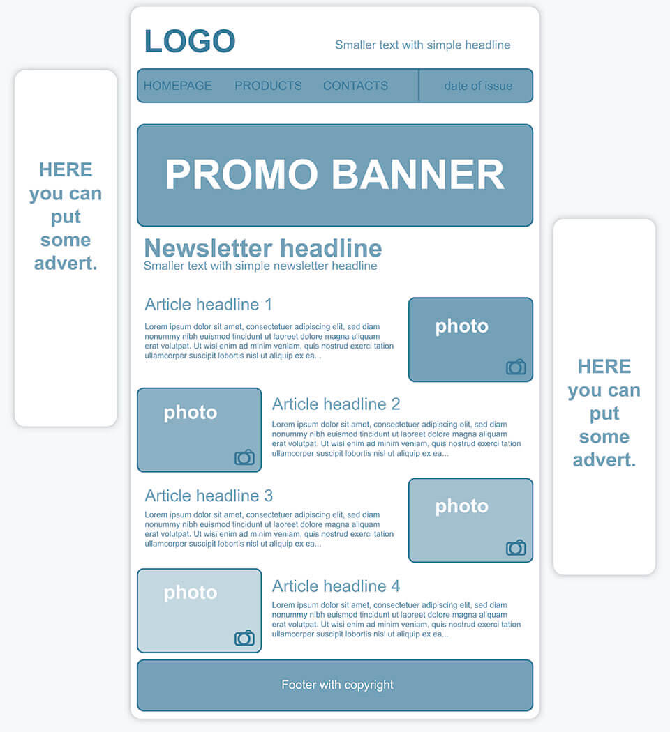Creating A Personalized Newsletter Template - How to make a newsletter template