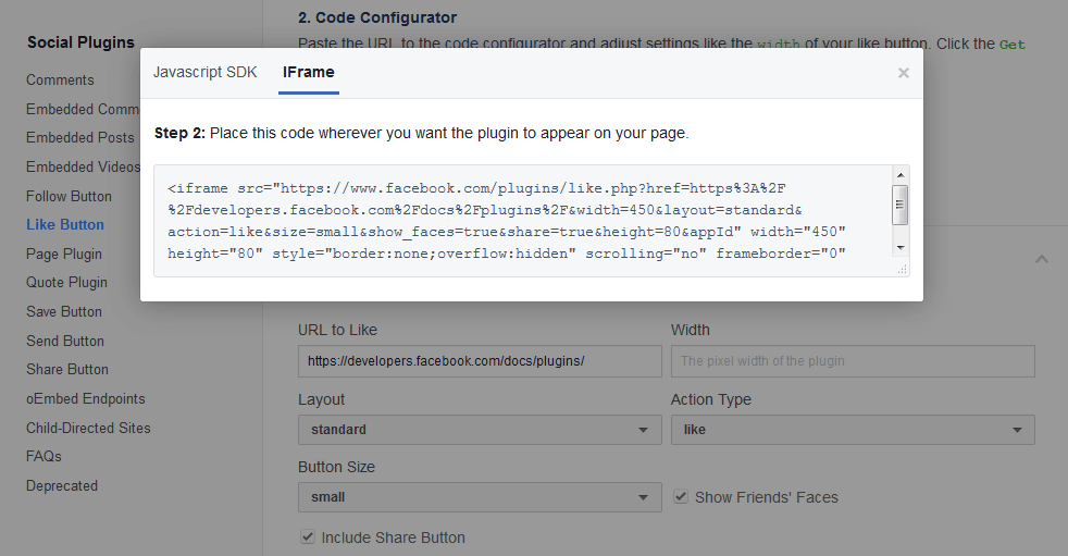 How to integrate a Facebook like/share button - 1&1 IONOS