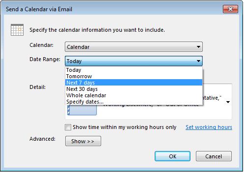 Sharing Outlook Calendars - 1&1 IONOS