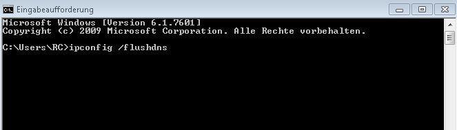 Windows 10: DNS flush via the command prompt