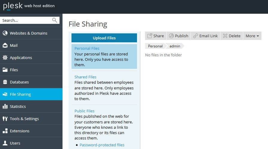How Plesk file sharing works - 1&1 IONOS
