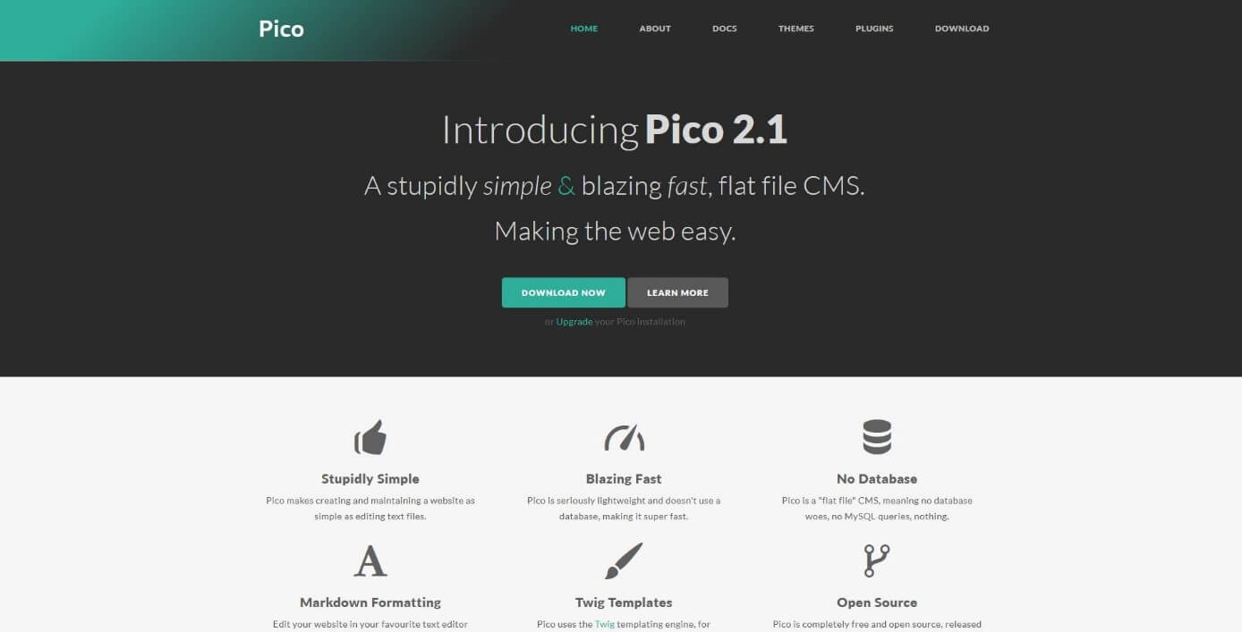 Homepage of the Pico project