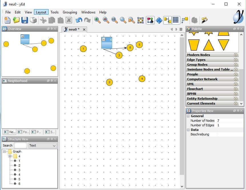 text project view in yed graph editor - Free Visio Type Software