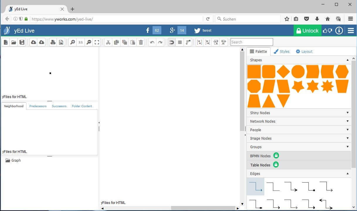 free microsoft visio alternative yed live online version of the yed editor - Free Visio Type Software