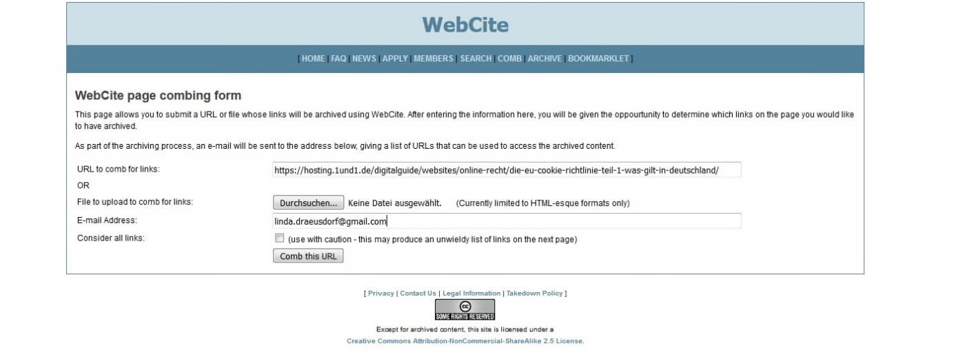 Find, view and download old versions of websites (that no