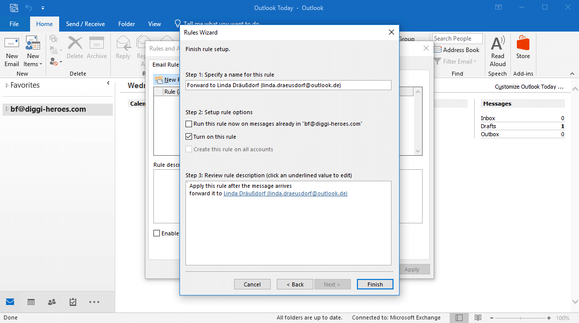Outlook auto forward | How to automatically forward emails