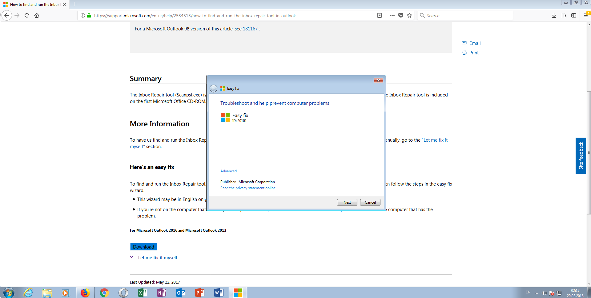 microsoft easy fix download windows 7 32 bit