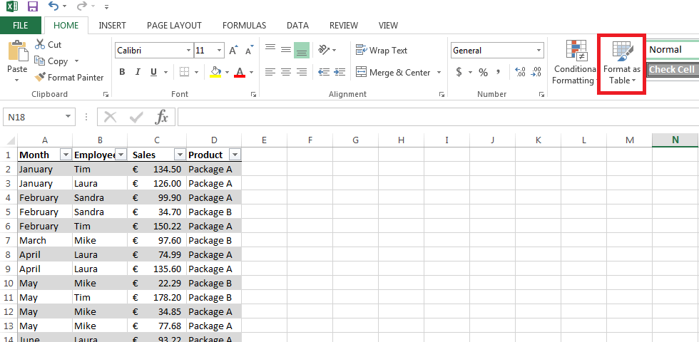 excel pivot table simple and easy creation 1 1 ionos