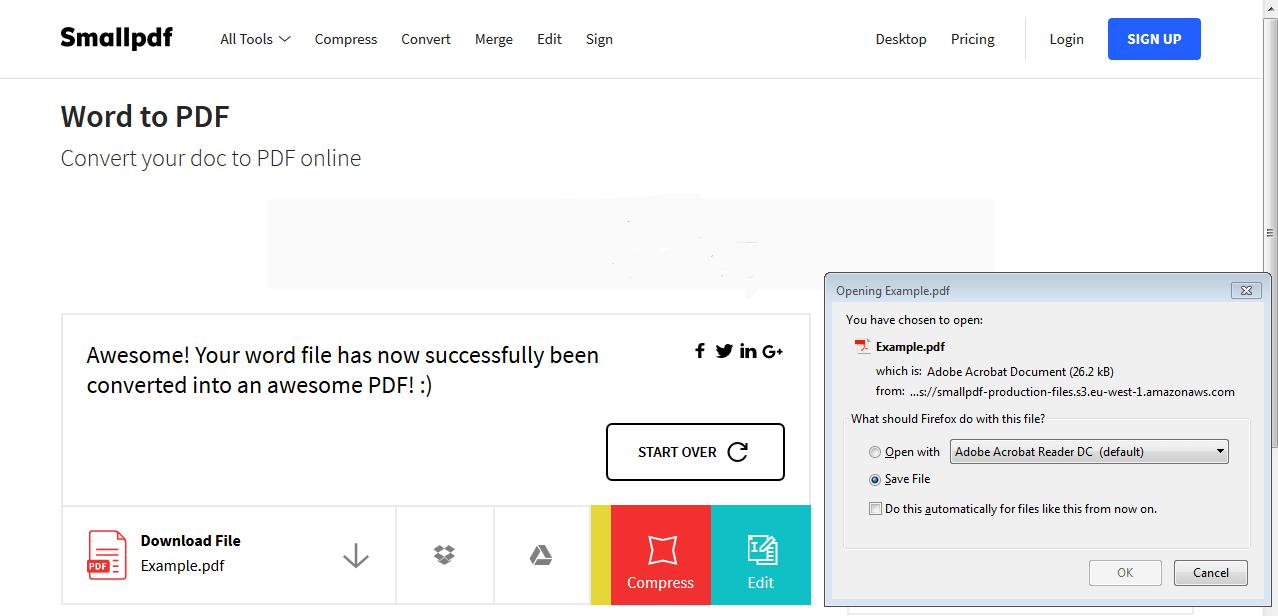 How to save as PDF: Microsoft Word - 1&1 IONOS