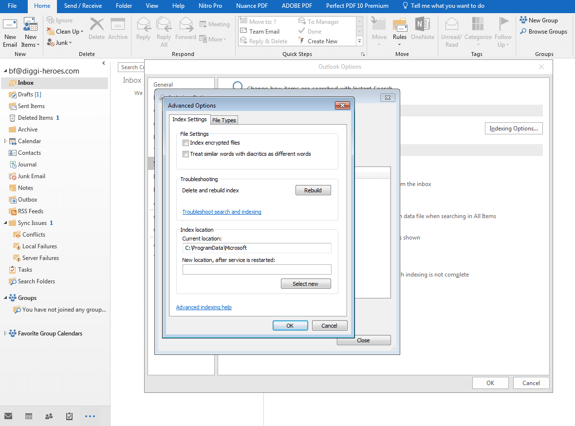 Outlook search function not working: what are the solutions? - 1&1 IONOS