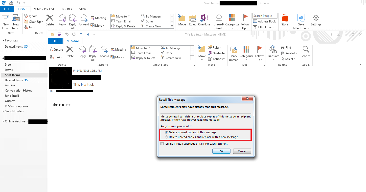 How to recall an email in Outlook | Step-by-step