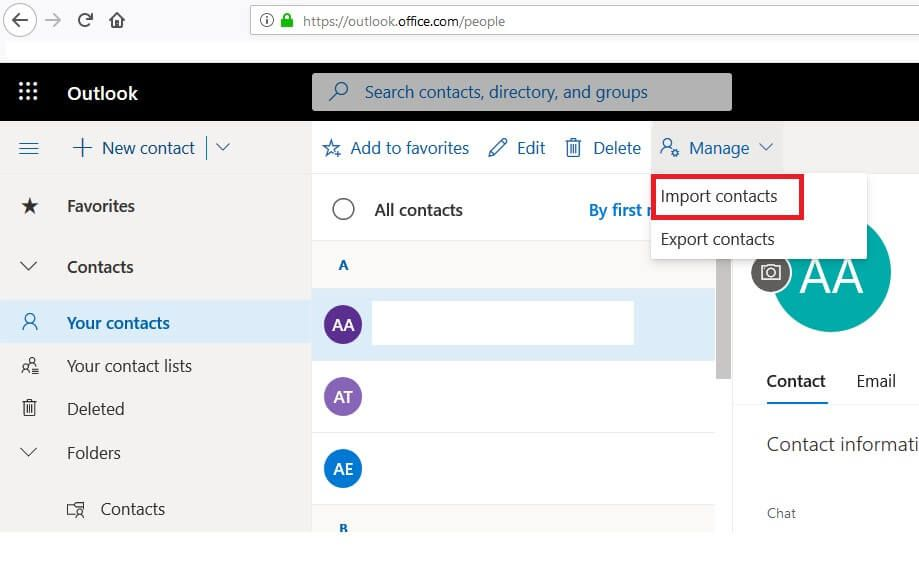 Outlook: How to import contacts into your Outlook address