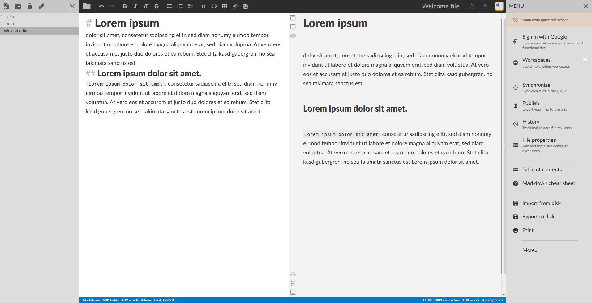 Markdown Editors | Windows, Mac, Linux and online markdown editors
