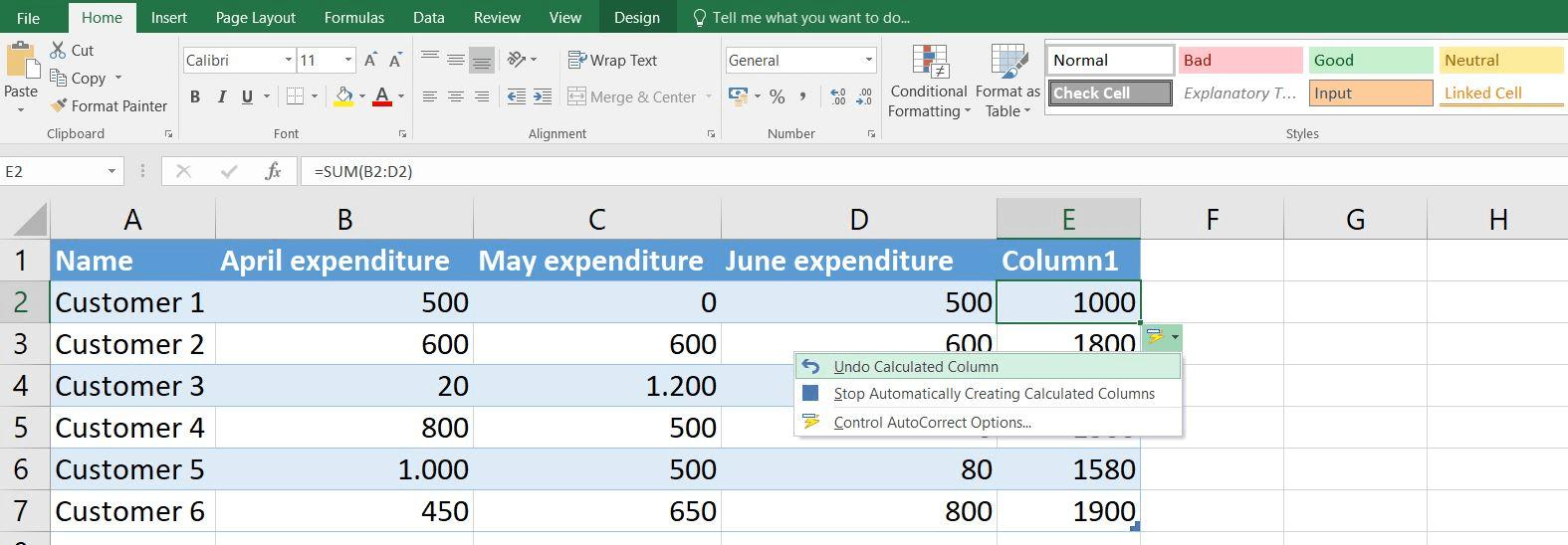 SUM function in Excel   Excel SUM formula examples   IONOS