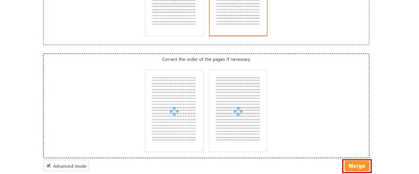 Tombol merge untuk menggabungkan file pdf