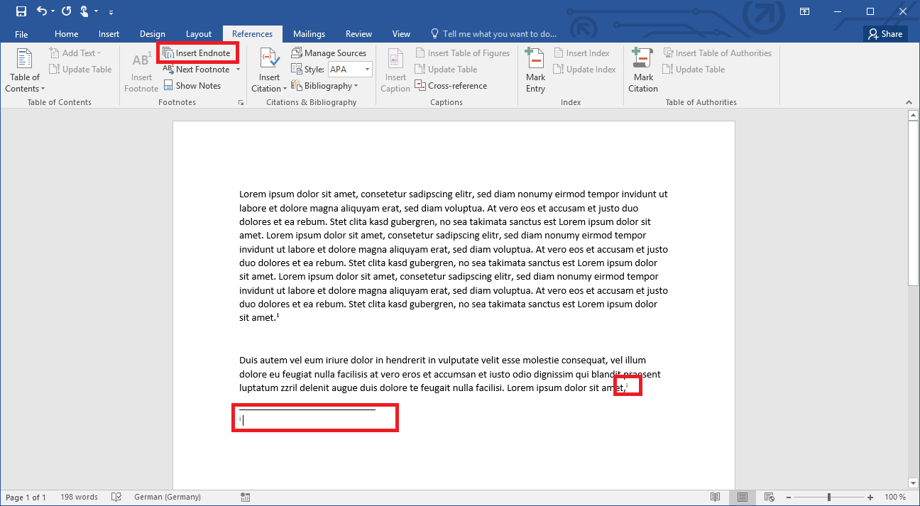 Shortcut To Insert Footnote In Word
