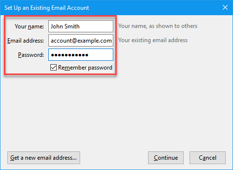 Add a Mail Basic Email Account to Mozilla Thunderbird - 1&1