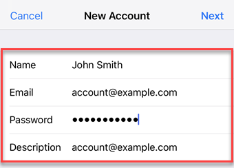 Add a Mail Basic Email Account to Your iPhone/iPad - 1&1