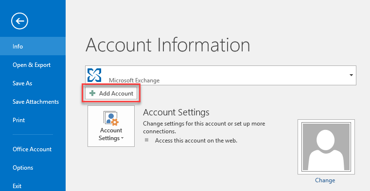 Set Up a Mail Basic Email Account in Microsoft Outlook 2016