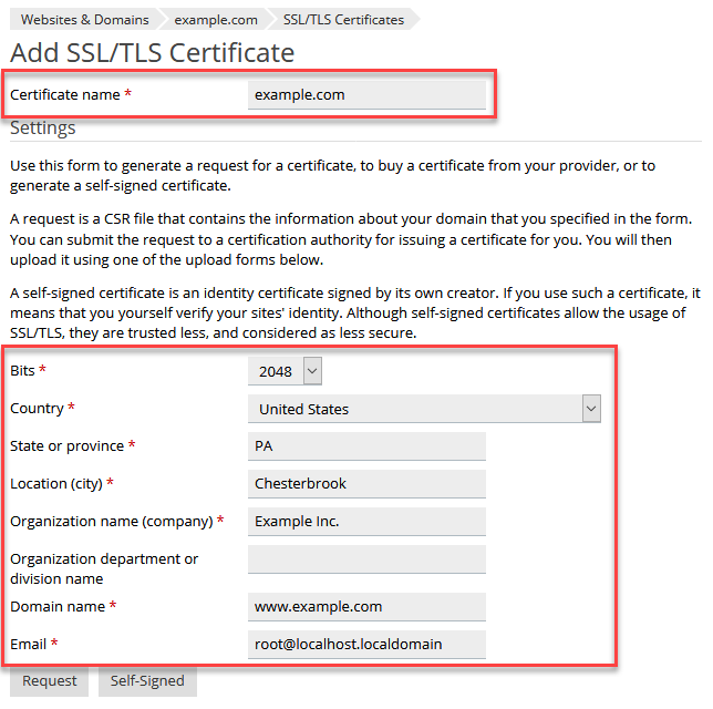 Installing an SSL Certificate in Plesk - 1&1 IONOS Help