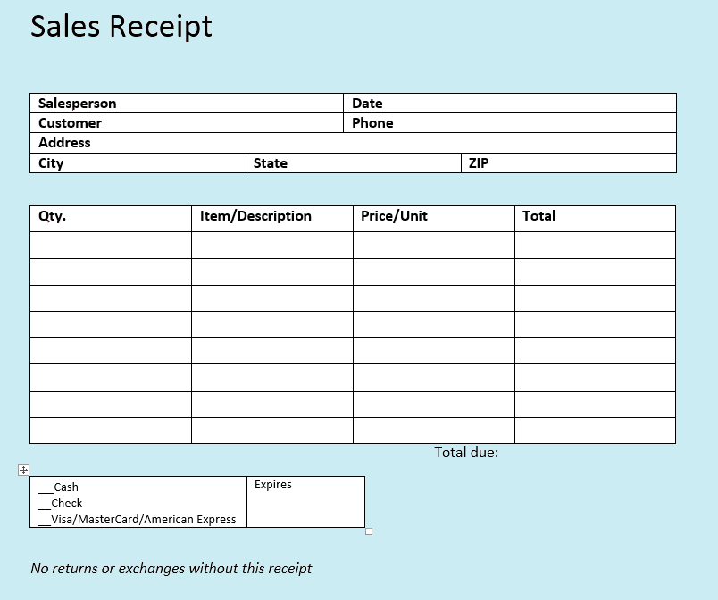 Sales Receipt Templates The Easy Way To Write Sales Receipts 1 1
