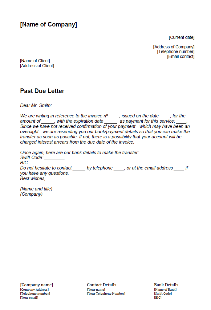 How To Write A Past Due Letter Ionos