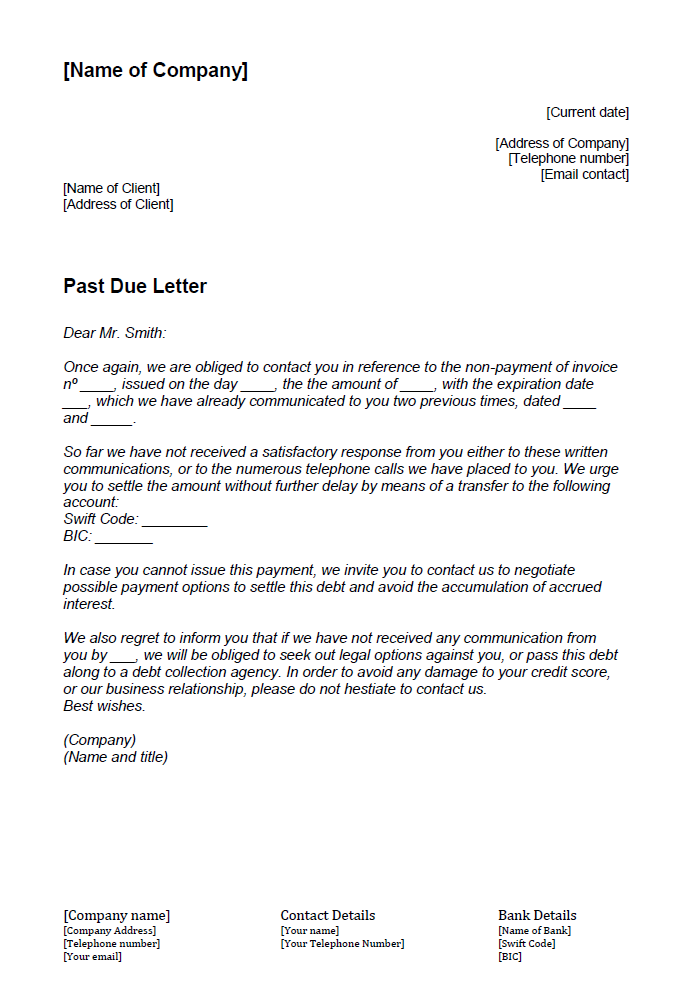 How To Write A Past Due Letter 1 1